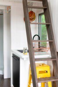 ladder in kitchen